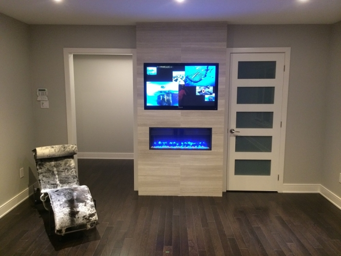 Electric fireplace design services toronto stylish fireplaces for Electric wall fireplace bedroom