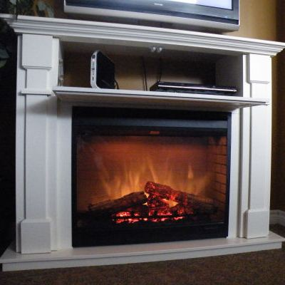 For a tv friendly fireplace go electric stylish fireplaces Hide fireplace ideas