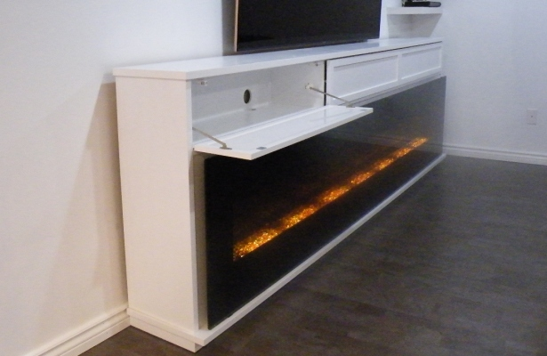 Making Linear Electric Fireplaces TV Friendly