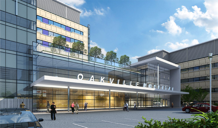 oakville hospital rendering