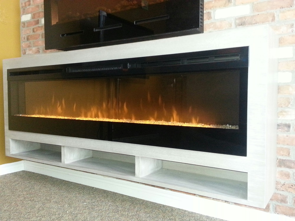 Making Linear Electric Fireplaces Tv Friendly Stylish Fireplaces