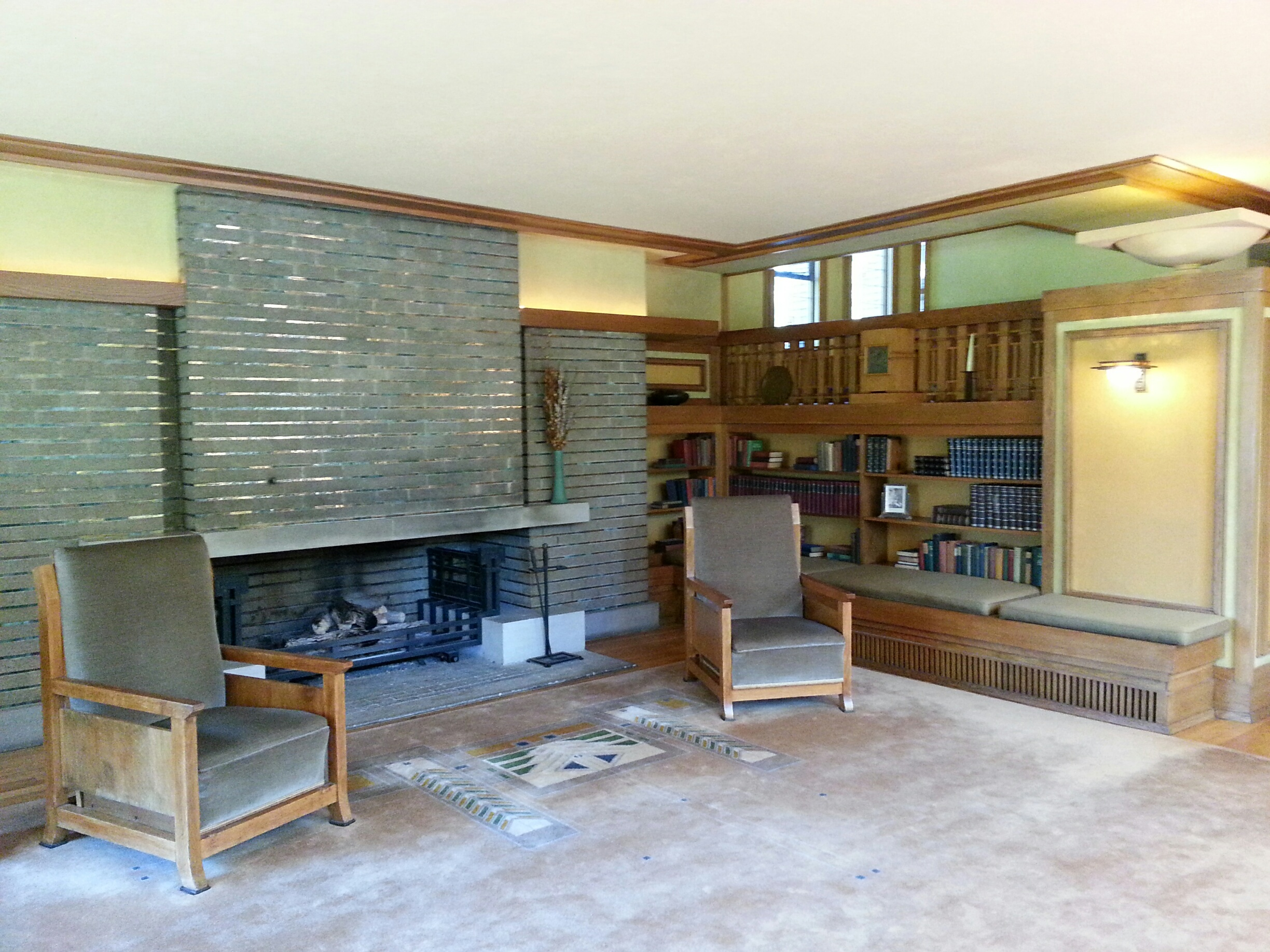 designing a fireplace with frank lloyd wright stylish fireplaces