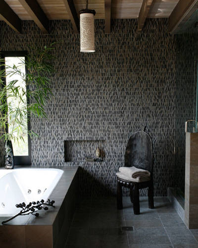stone - bathroom by Jeff Andrews Design