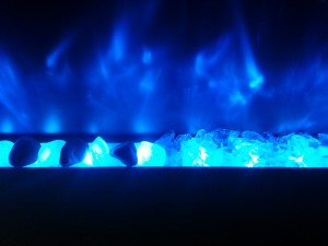 crystal-blue flame-rocks vs white glass