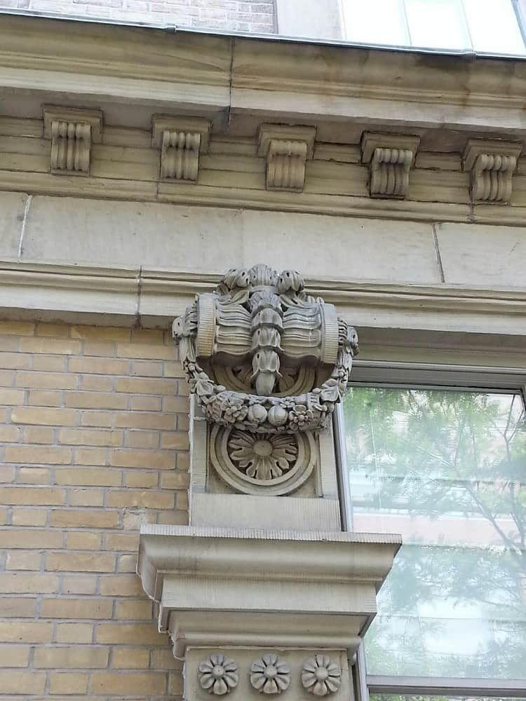 toronto-architectural detail with swag rosettes