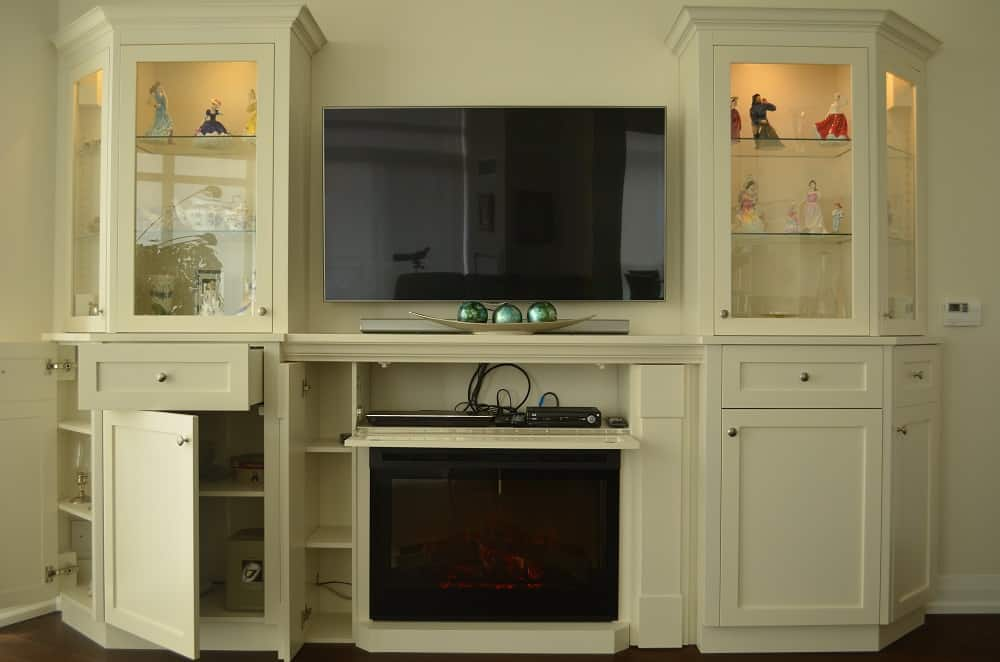 donway wall unit with storage open