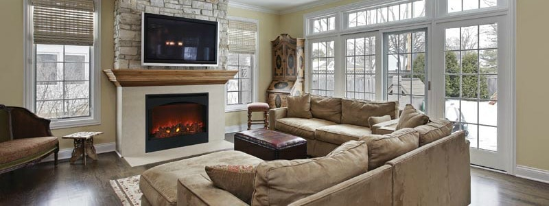 Electric Fireplace Insert in Toronto Home