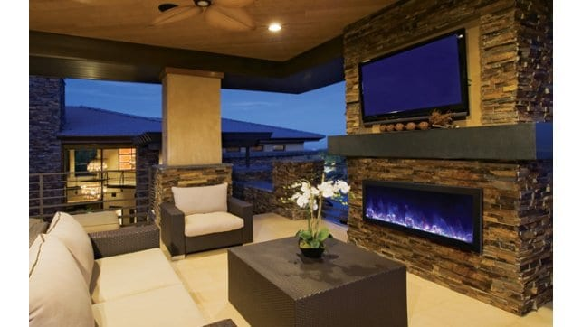 Amantii Bi 50 Deep Indoor Outdoor Linear Fireplace