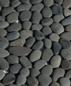 Erthcoverings Pebbles Charcoal stone veneer