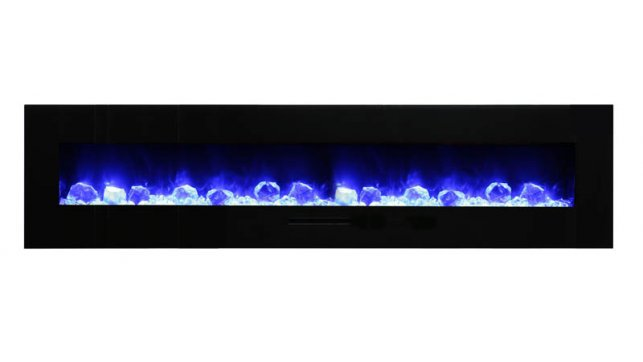 Amantii WM-FM-88-10023-BG-ICE electric fireplace