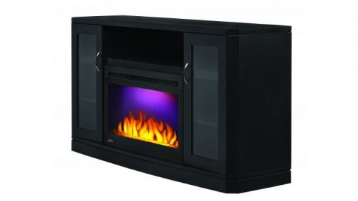 Napoleon Crawford entertainment cabinet with electric fireplace
