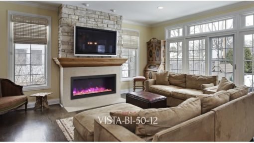 Sierra Flame Vista-BI-50-12 linear fireplace