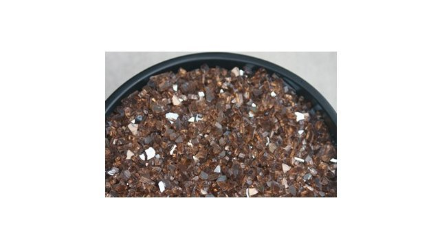 """1/4"""" Fire Glass Crushed Reflective Copper"""