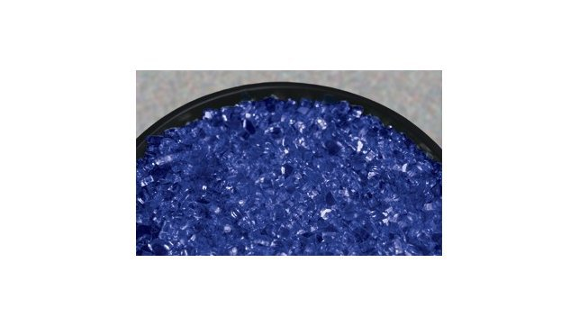 "Crushed Blue 1/2"" fire glass"