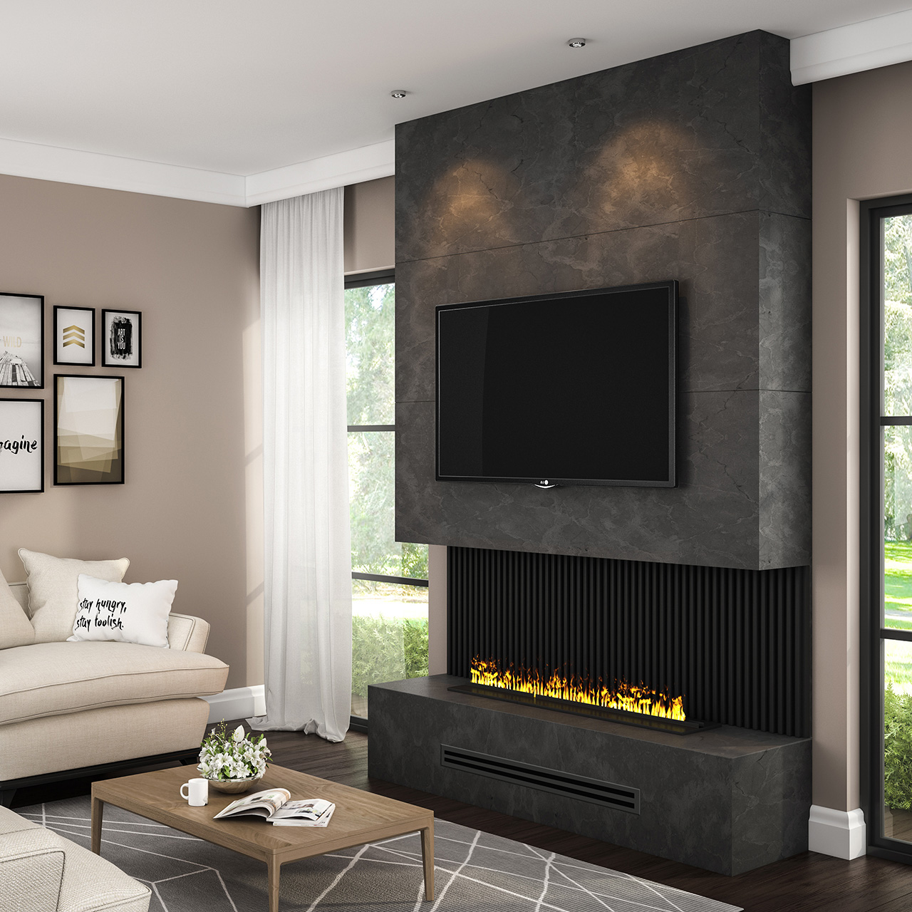 How To Make An Electric Fireplace Look Real Stylish Fireplaces