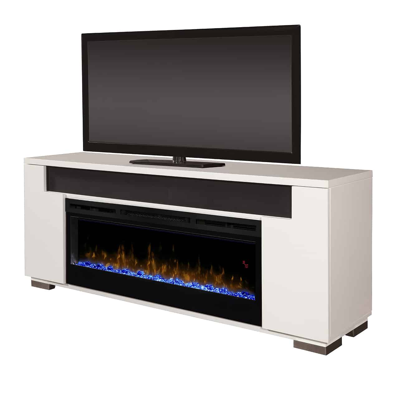 Dimplex Haley Media Console In White With Blf5051 Firebox