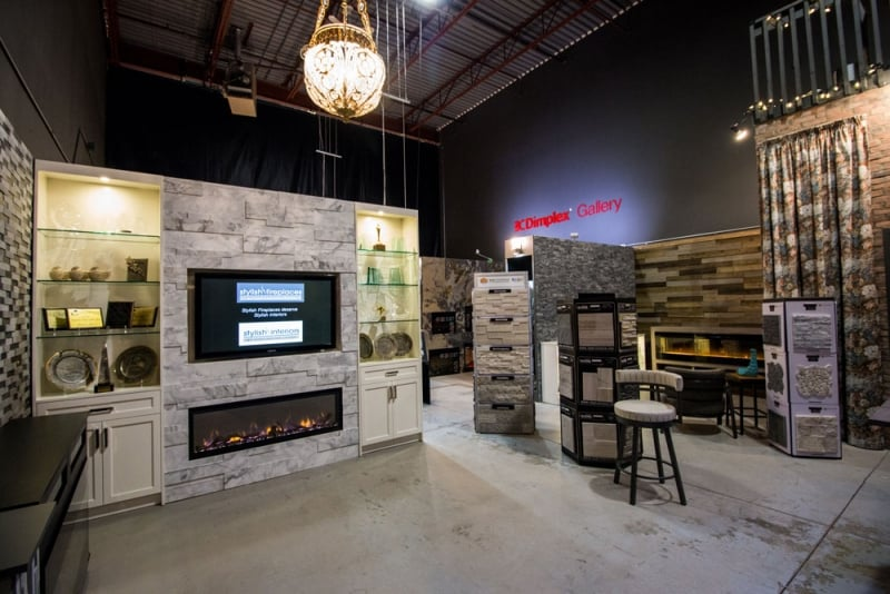 Electric fireplace showroom in Toronto