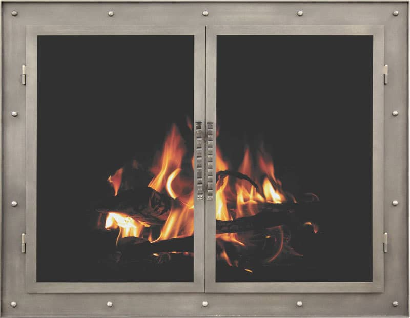 Astonishing Accessorizing Your Fireplace With Custom Fireplace Doors And Home Remodeling Inspirations Genioncuboardxyz