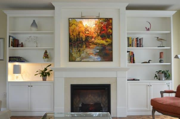 Custom Wall Unit with fireplace