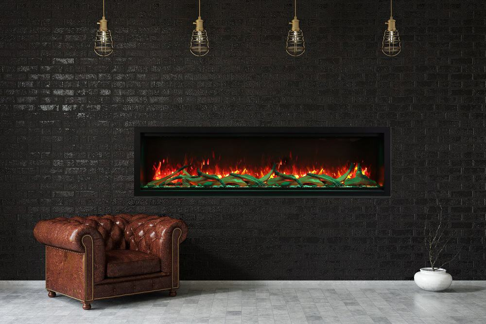 Amantii XT Series Fireplace with Brick
