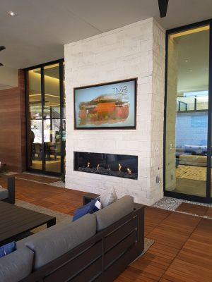 NAHB New American Remodel show house fireplace