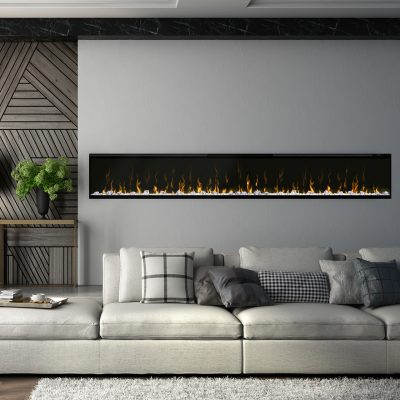 In wall mounted electric fireplaces
