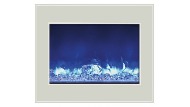 Amantii ZECL-39-4134-WHTGLS  electric fireplace