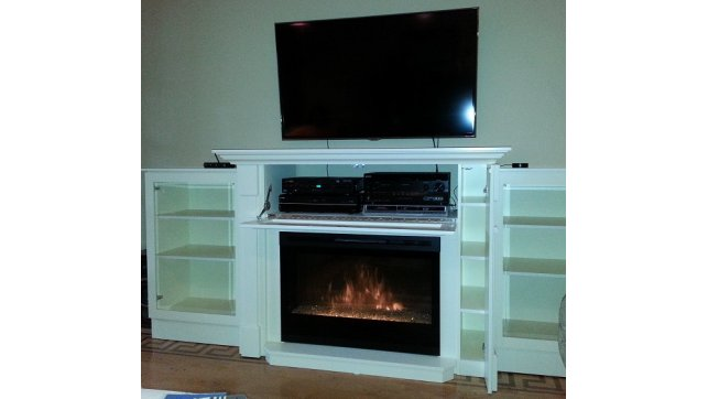 Custom 200 Series Media Cabinet With Bookcases Dimplex Dfg3033 Insert Stylish Fireplaces