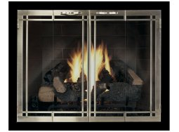 Design Specialties Carolina fireplace doors with window pane