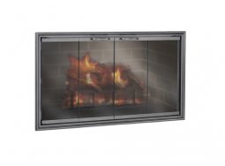 Design Specialties Fine LIne Shadow ZC aluminum fireplace doors