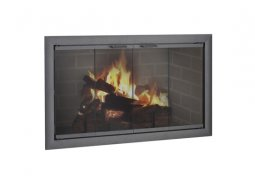 Design Specialties Fine Line ZC Brookfield aluminum fireplace doors