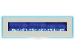 Amantii WM-BI-72-8123-WHTGLS electric fireplace