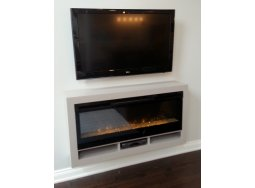Custom Floating Electric Fireplace