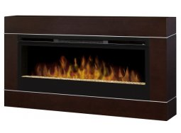 Dimplex Cohesion Walnut with BLF50 electric fireplace