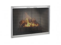Design Specialties Fine Line Shadow aluminum fireplace doors