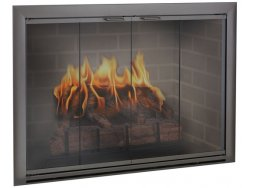 Design Specialties Fine Line Brookfield aluminum fireplace doors