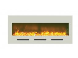 Amantii BI-50-FLUSHMT-WHTGLS electric fireplace