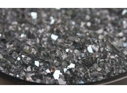 Crushed Reflective Gray Fire Glass