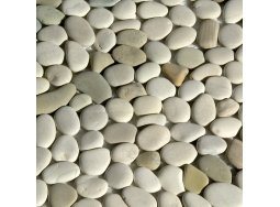 Erthcoverings Pebbles Ivory Blend stone veneer