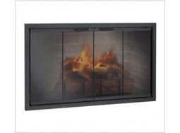 Design Specialties Fine Line Stiletto ZC aluminum fireplace doors