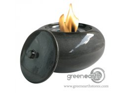 Green Earth firepot pebble midnight