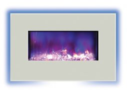 Amantii WM-BI-26-3623-WHTGLS electric fireplace