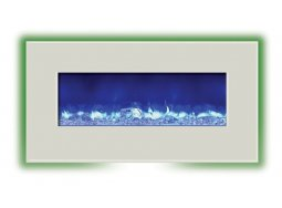 Amantii WM-BI-34-4423-WHTGLS electric fireplace