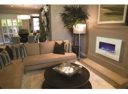 Amantii WM-BI-3623-WHTGLS electric fireplace