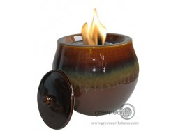 Green Earth firepot round fett chestnut