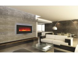 Amantii WM-BI-34-4423-BLKGLS electric fireplace